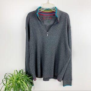Men's Robert Graham Skyjammer Sweater Gray Large